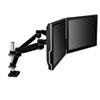 MMMMA260MB Easy-Adjust Dual Monitor Arm; 4 1/2 x 11 1/2, Black/Gray MMM MA260MB