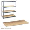SAF5261 Particleboard Shelves for Steel Pack Archival Shelving, 69w x 33d, Box of 4 SAF 5261