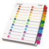 CRD60990 OneStep Printable Table of Contents/Dividers, 52-Tab, 8-1/2 x 11, Multicolored CRD 60990