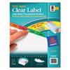 AVE11419 Index Maker Divider w/Multicolor Tabs, 8-Tab, Letter, 5 Sets/Pack AVE 11419
