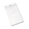 AVT76076 Frosted Rigid Badge Holder, 3 3/8 x 2 1/8, Clear, Vertical, 25/PK AVT 76076