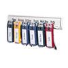 DBL196100 Key Tag Rack w/6 Tags, 24 Tag Capacity, 8 3/8 x 1 3/8 x 14 1/8, White Plastic DBL 196100