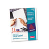 AVE11430 Index Maker Clear Label Unpunched Divider, 3-Tab, Letter, White, 5 Sets AVE 11430