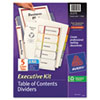AVE11275 Ready Index Contents Dividers, 5-Tab, 1-5, Letter, Multicolor, Set of 5 AVE 11275