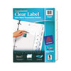 AVE11449 Index Maker Clear Label Punched Dividers, 5-Tab, Letter AVE 11449