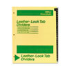 AVE11483 Office Essentials Printed Tab Index Divider Set, 26-Tab, A-Z, Black, 26/Set AVE 11483