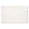 CRD84812 Paper Insertable Dividers, 5-Tab, 11 x 17, White Paper/Clear Tabs CRD 84812