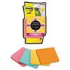 MMMF3304SSFM Full Adhesive Notes, 3 x 3, Assorted Colors, 4/PK MMM F3304SSFM