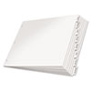 CRD84815 Paper Insertable Dividers, 8-Tab, 11 x 17, White Paper/Clear Tabs CRD 84815