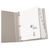 AVE11552 Print-On Dividers, 8-Tab, 3-Hole Punched, 8-1/2 x 11, White, 5 Sets/Pack AVE 11552