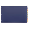 CRD84803 Poly Insertable Dividers, 8-Tab, 11 x 17, Multicolor CRD 84803