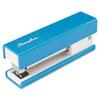 SWI87826 Half Strip Fashion Stapler, 20-Sheet Capacity, Blue SWI 87826