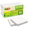 RTG27406 Sugar Cane Self-Stick Notes, 3 x 3, White, 100 sheets/pad, 12 pads/PK RTG 27406