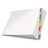 CRD84816 Paper Insertable Dividers, 8-Tab, 11 x 17, White Paper/Multicolor Tabs CRD 84816