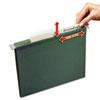 AVE73505 LiftTab Hanging Folders, Letter, 1/3 Cut, Green, 12/PK AVE 73505
