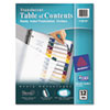 AVE11819 Ready Index Table/Contents Dividers, 12-Tab, Letter, Assorted, 12/Set AVE 11819