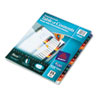 AVE11820 Ready Index Table/Contents Dividers, 15-Tab, Letter, Assorted, 15/Set AVE 11820