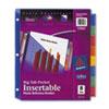 AVE11903 Big Tab Plastic Dividers, Slash Pocket, 8-Tab, Letter, Assorted AVE 11903