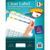 AVE11992 Index Maker Clear Label Contemporary Color Dividers, 5-Tab, 25 Sets/Box AVE 11992