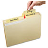 AVE73503 Slide & Lift Tab File Folder, Letter, 1/3 Cut Tab, Manila, 24/PK AVE 73503