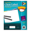 AVE11999 Index Maker Clear Label Contemporary Color Dividers, 8-Tab, 25 Sets/Pack AVE 11999