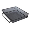 UNV20004 Mesh Stackable Front Load Tray, Letter, Black UNV 20004