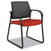 HONIB108CU42 Ignition Series Mesh Back Guest Chair with Sled Base, Poppy Fabric Upholstery HON IB108CU42