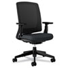 HON2281VA10T Lota Series Mesh Mid-Back Work Chair, Black Fabric, Black Base HON 2281VA10T