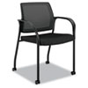 HONIS107NT10 Ignition Series Mesh Back Mobile Stacking Chair, Black Fabric Upholstery HON IS107NT10