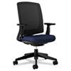 HON2281VA90T Lota Series Mesh Mid-Back Work Chair, Navy Fabric, Black Base HON 2281VA90T