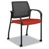 HONIS107CU42 Ignition Series Mesh Back Mobile Stacking Chair, Poppy Fabric Upholstery HON IS107CU42