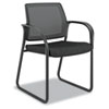 HONIB108NT10 Ignition Series Mesh Back Guest Chair with Sled Base, Black Fabric Upholstery HON IB108NT10