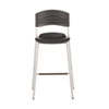 ICE64527 CaféWorks Bistro Stool, Blow Molded Polyethylene, Graphite/Silver ICE 64527
