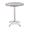 ICE65667 CaféWorks Table, 36 dia x 42h, Gray/Silver ICE 65667