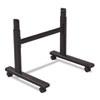 BLT90315 Height-Adjustable Flipper Table Base, 48w x 24d x 28-1/2 to 45h, Black BLT 90315
