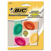 BICERSGP41AST Eraser with Grip, Assorted Colors, 4/Pk BIC ERSGP41AST
