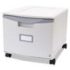 STX61254U01C Single-Drawer Mobile Filing Cabinet, 14-3/4w x 18-1/4d x 12-3/4h, Gray STX 61254U01C