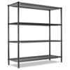 ALESW206018GN All-Purpose Wire Shelving Starter Kit, 4 Shelves, 60w x 18d x 72h, Green ALE SW206018GN