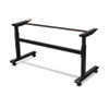 BLT90317 Height-Adjustable Flipper Table Base, 72w x 24d x 28-1/2 to 45h, Black BLT 90317