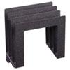 MMF2643S94A3 Vertical Slant Organizer, 4-Compartment, 9 1/2 x 4 x 9 1/4, Granite MMF 2643S94A3