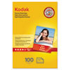 KOD1034388 Premium Photo Paper, 64lb, Glossy, 4 x 6, 100 Sheets/Pack KOD 1034388
