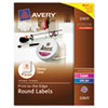 AVE22825 Round Easy Peel Labels, 2