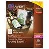 AVE22826 Textured Arched Easy Peel Labels, 4-3/4 x 3-1/2, White, 40/Pack AVE 22826