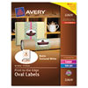 AVE22829 Oval Easy Peel Labels, 2 x 3-1/3, Matte Ivory, 80/Pack AVE 22829