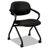 BSXVL303MM10T VL303 Mesh Back Nesting Arm Chair, Black/Black BSX VL303MM10T