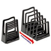 AVE73523 Adjustable File Rack, Five Sections, 8 x 10 3/4 x 11 3/4, Black AVE 73523