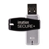 IMN28911 Secure+ Hardware-Encrypted Flash Drive, 8 GB IMN 28911