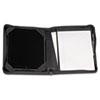 SAM70700 iPad Zipper Composition Pad Holder, Leather, Black SAM 70700