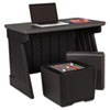 ICE75007 SnapEase Desk and Otto Seat Storage Combo, Black/Gray ICE 75007