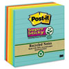 MMM6756SSNRP Farmers Market Super Sticky Notes, Lined, 4 x 4, 6 90-Sheet Pads/Pack MMM 6756SSNRP